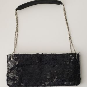 NY&Co New York and Company Sequin Black bag clutch